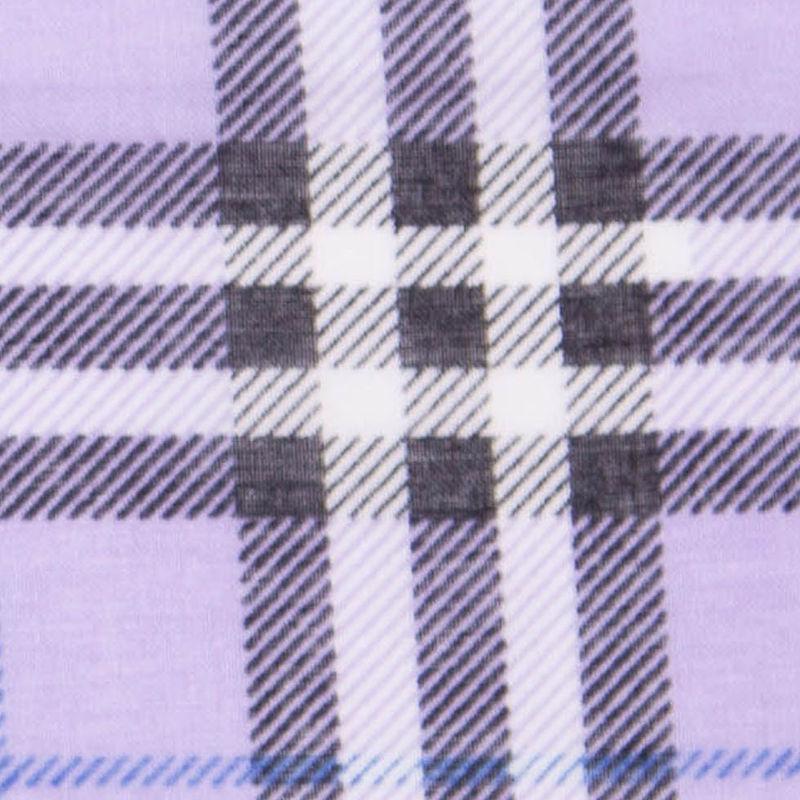 Lavender British-Plaid Cotton Voile - Detail