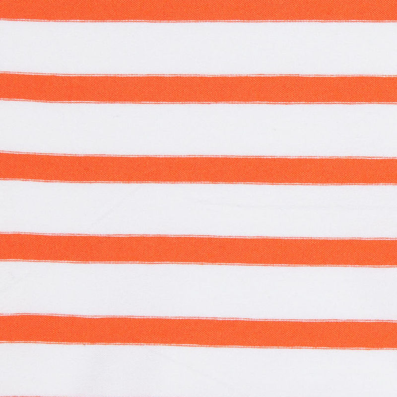 Orange and Ivory Striped Viscose Jersey - Detail