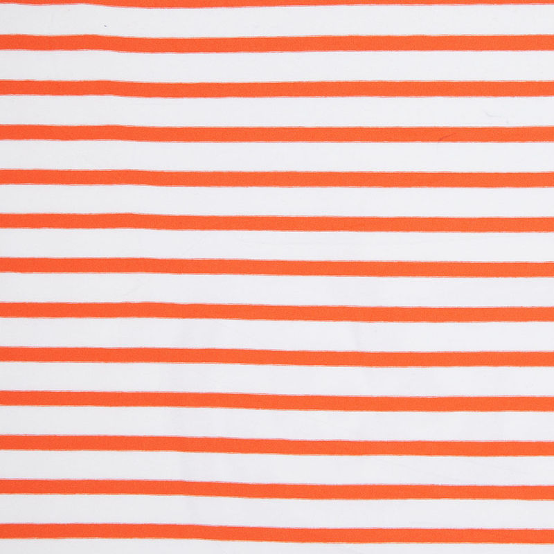 Orange and Ivory Striped Viscose Jersey