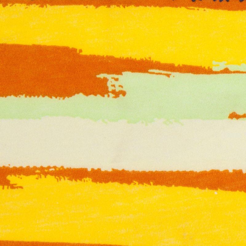 Golden Yellow & Bright Purple Streaks Cotton Jersey Print - Detail