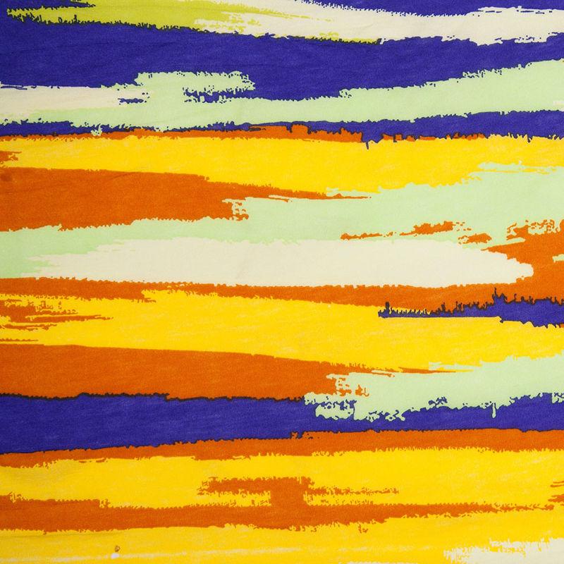 Golden Yellow & Bright Purple Streaks Cotton Jersey Print