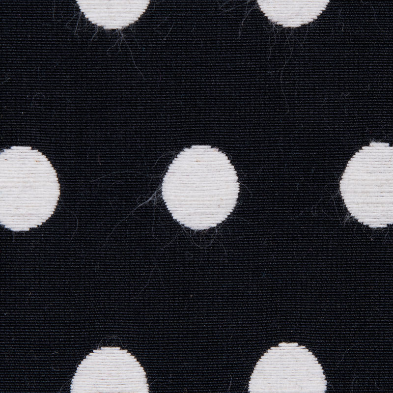 Black and Ivory Polka Dotted Embroidered Woven - Detail