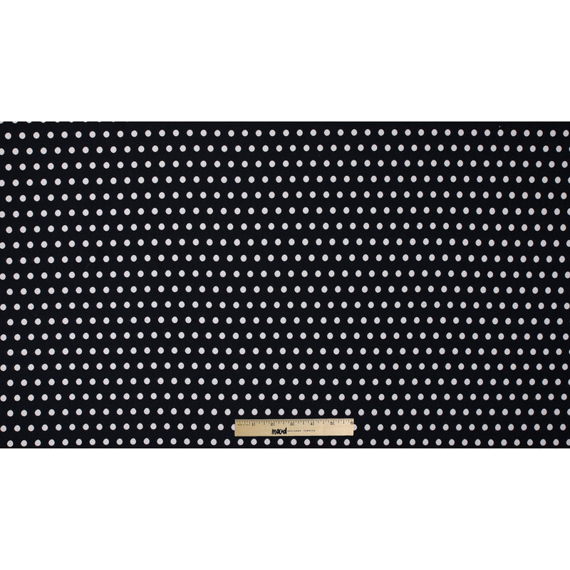 Black and Ivory Polka Dotted Embroidered Woven - Full