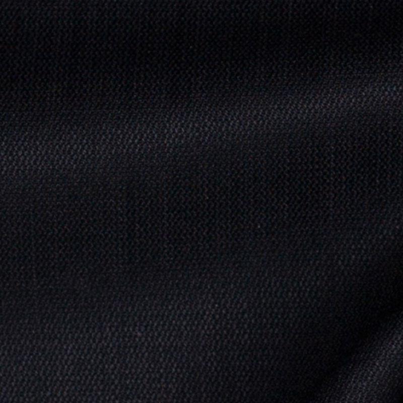 Black Smooth Wool Suiting - Detail