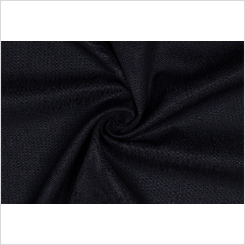 Black Smooth Wool Suiting - Full