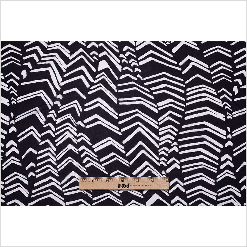 Famous Designer Black and White Cotton Jersey - Full