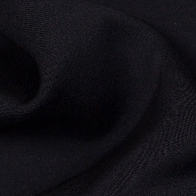 Theory Black Stretch Silk Georgette - Detail