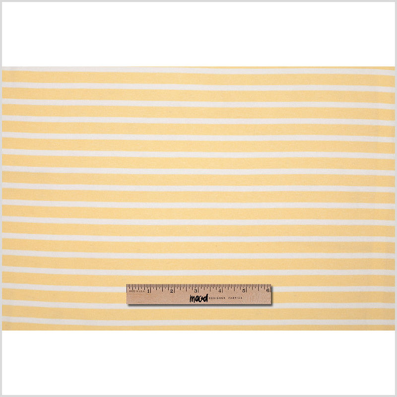 Theory Light Canary Striped Viscose Ponte Blend - Full