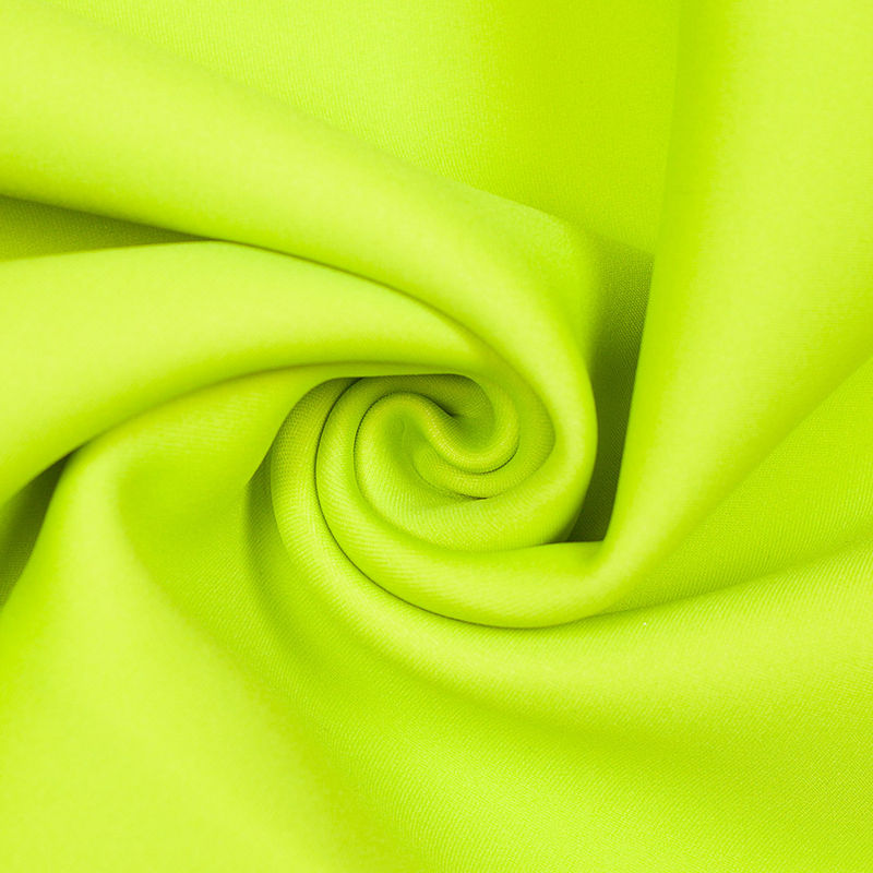 Twilight Blue/Lime Double-Faced Neoprene/Scuba Fabric - Detail