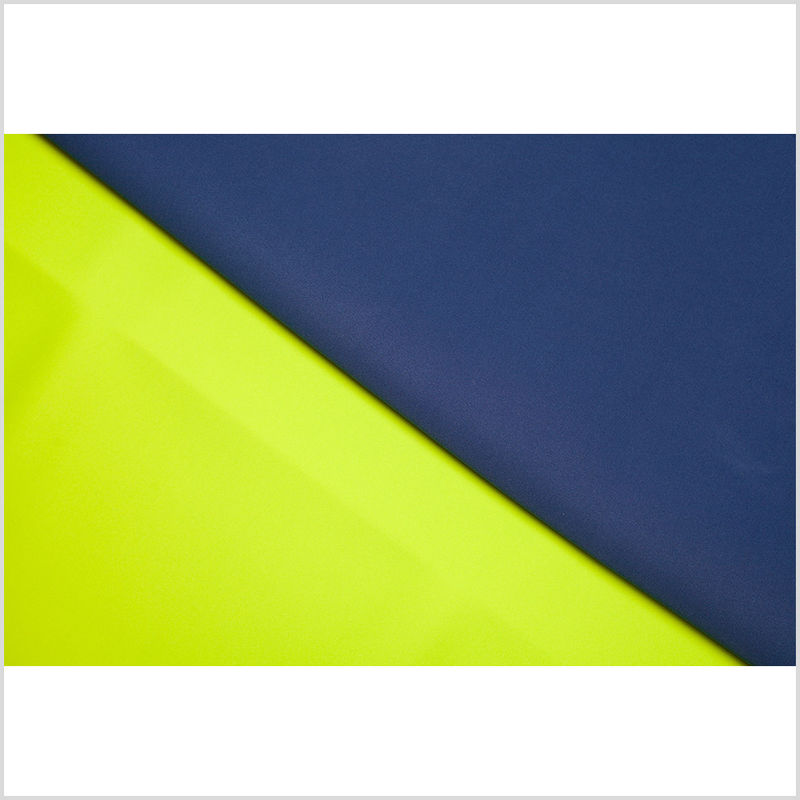 Twilight Blue/Lime Double-Faced Neoprene/Scuba Fabric - Full
