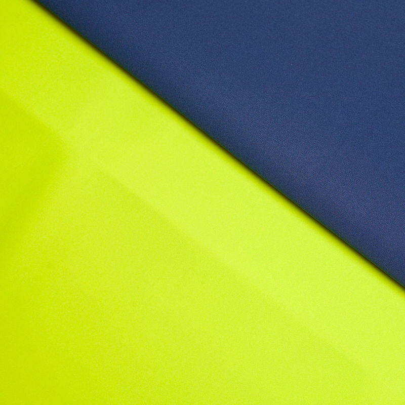 Twilight Blue/Lime Double-Faced Neoprene/Scuba Fabric