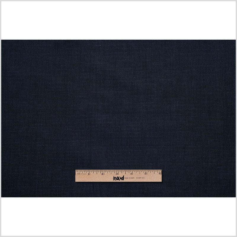 Theory Uniform Navy Striped Stretch Cotton-Linen Blend - Full