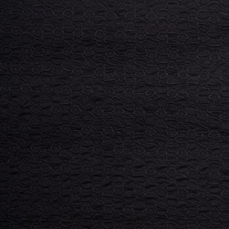 Black Stretch Viscose-Nylon Novelty Knit