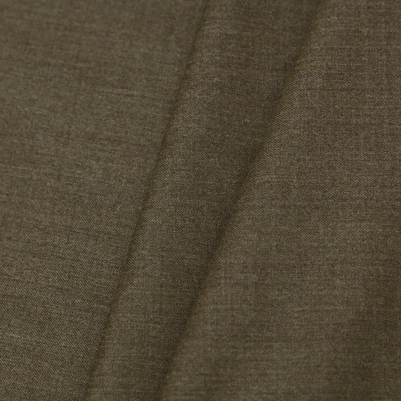 Dark Olive Stretch Wool Suiting - Folded