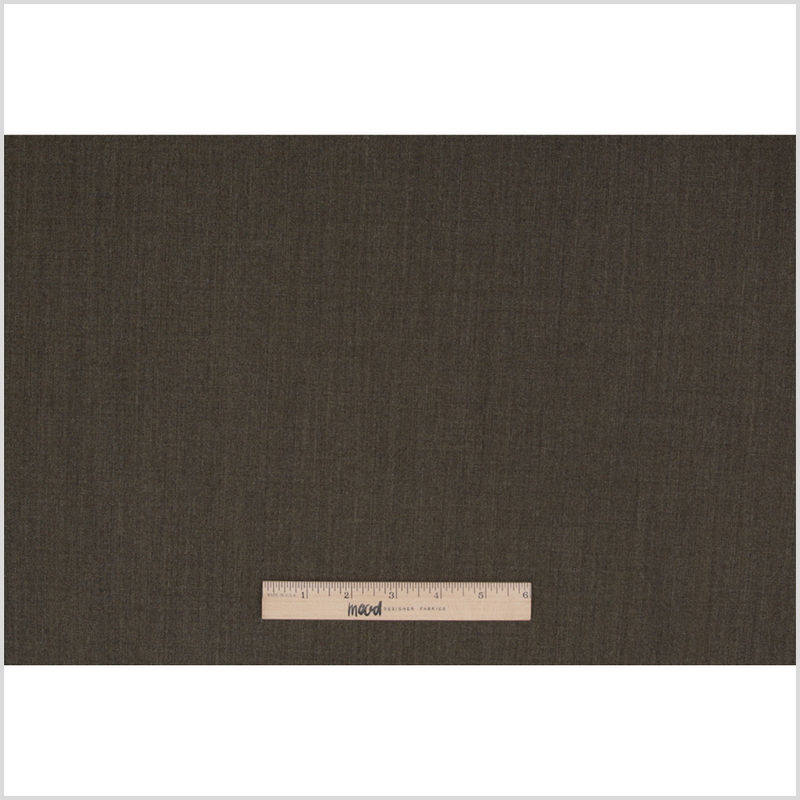 Dark Olive Stretch Wool Suiting - Full