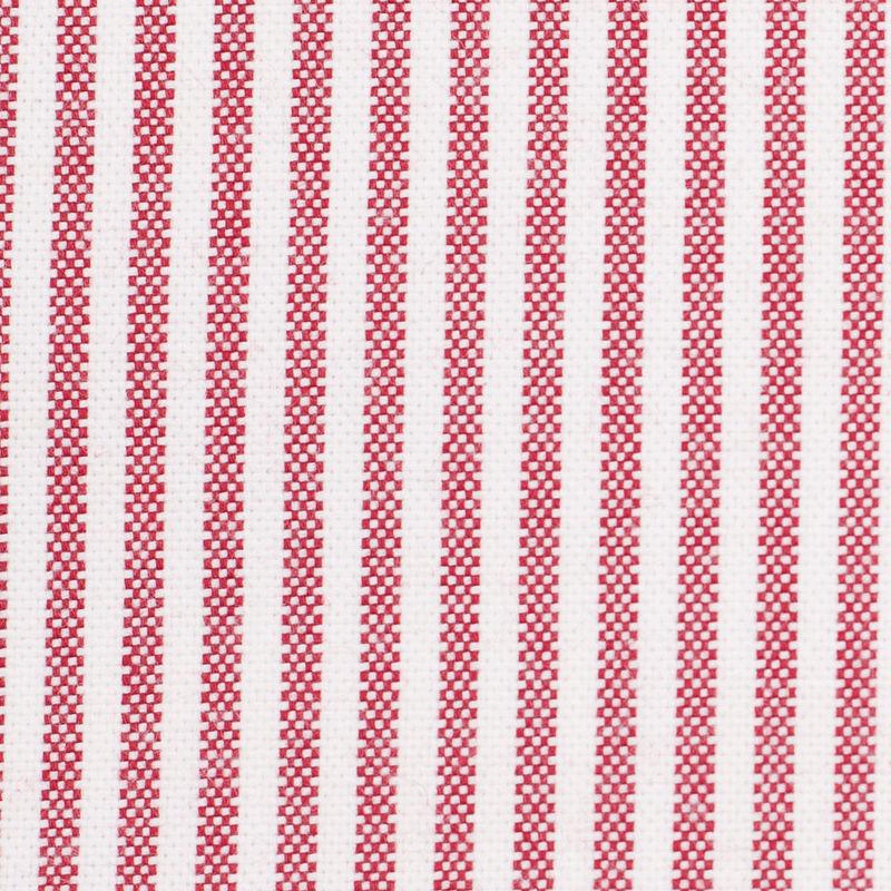 Italian Red/White Striped Cotton Woven - Detail