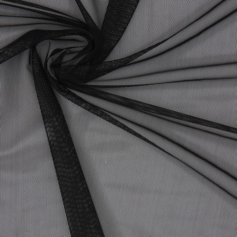 Black Stretch Polyester Power Mesh - Detail