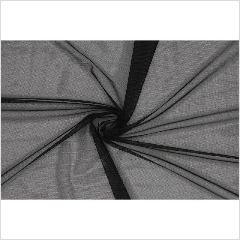 Black Stretch Polyester Power Mesh - Full
