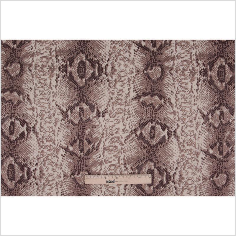 Beige/Brown Python Printed Stretch Cotton Sateen - Full