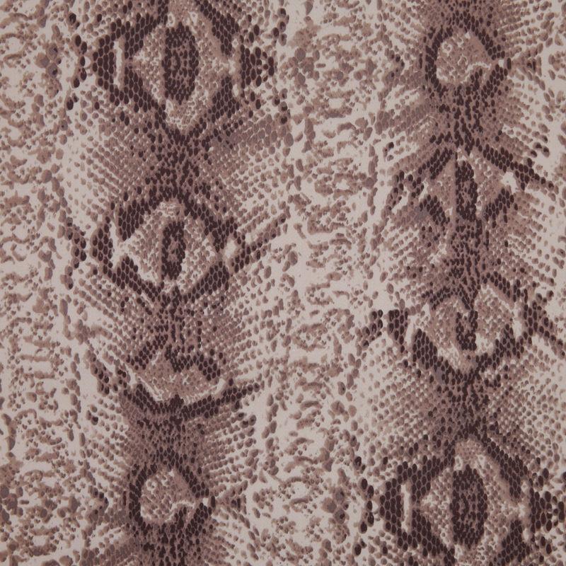 Beige/Brown Python Printed Stretch Cotton Sateen