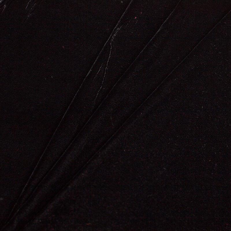 Black Solid Polyester Micro Velvet - Folded