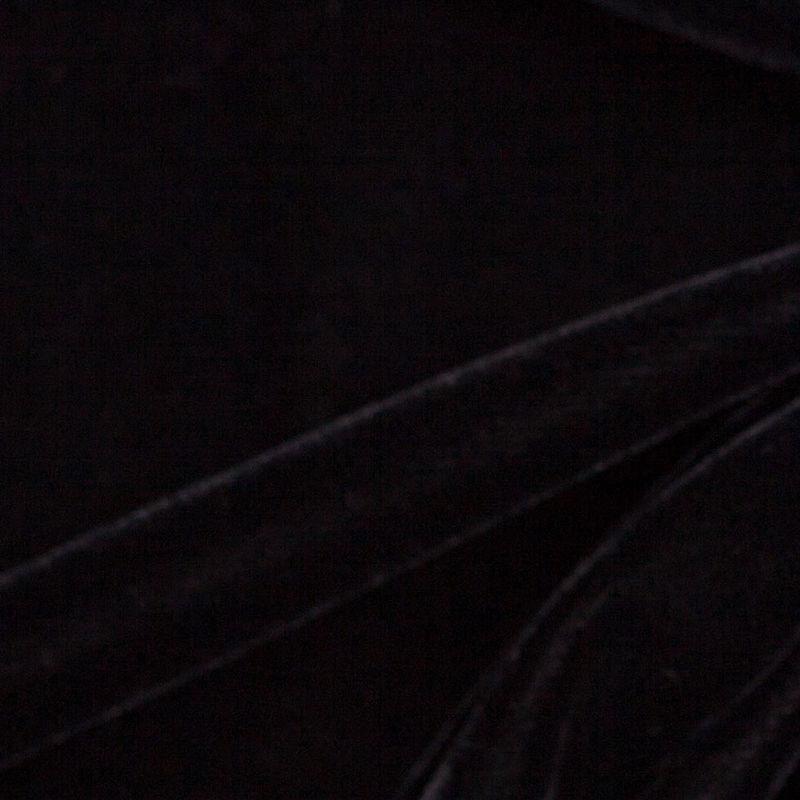 Black Solid Polyester Micro Velvet - Detail