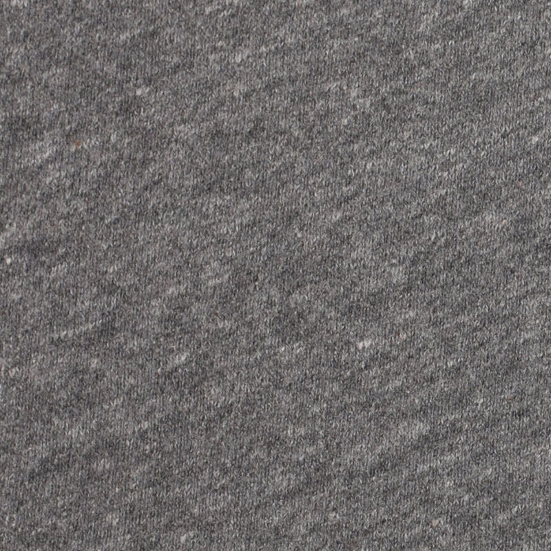 Cadet Charcoal/Cream French Terry Cotton Knit - Detail