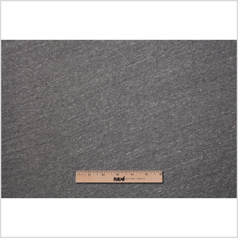 Cadet Charcoal/Cream French Terry Cotton Knit - Full