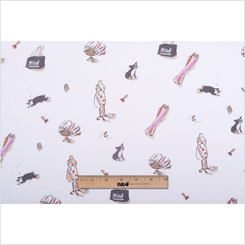 Mood Icons Digitally Printed Polyester Chiffon - Full