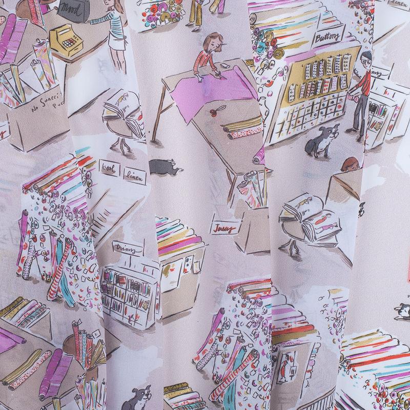 Mood Store Digitally Printed Polyester Chiffon - Folded