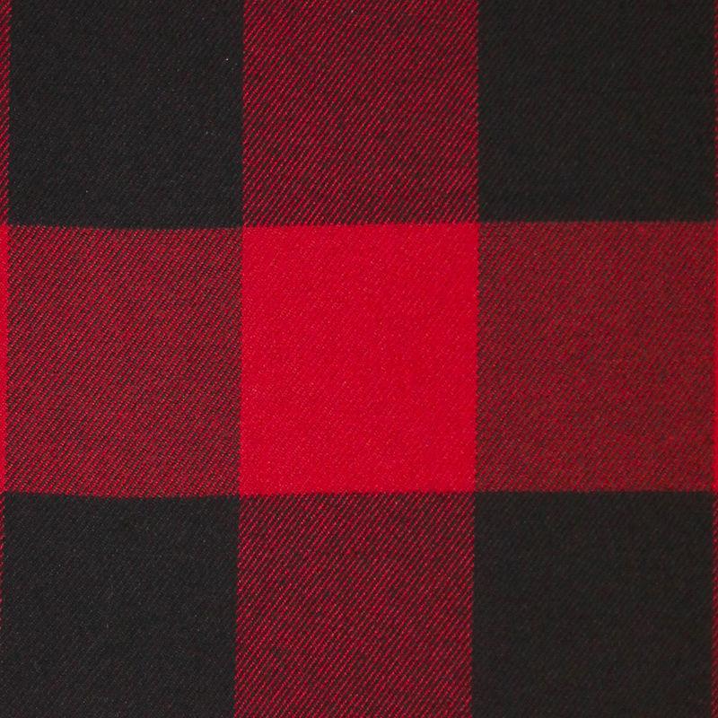 Dark Red/Black Buffalo Check Cotton Flannel - Detail