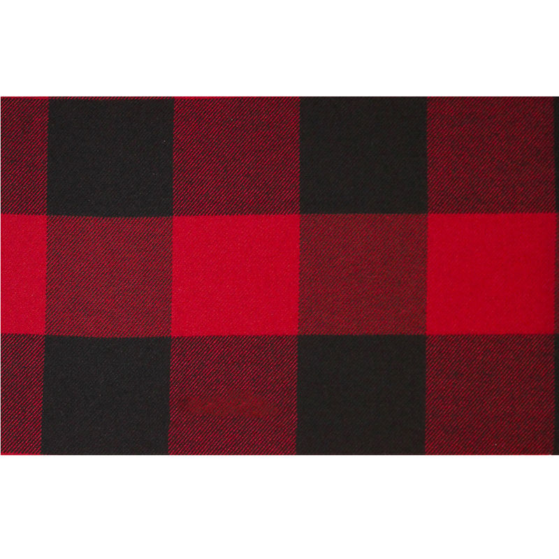 Dark Red/Black Buffalo Check Cotton Flannel - Full