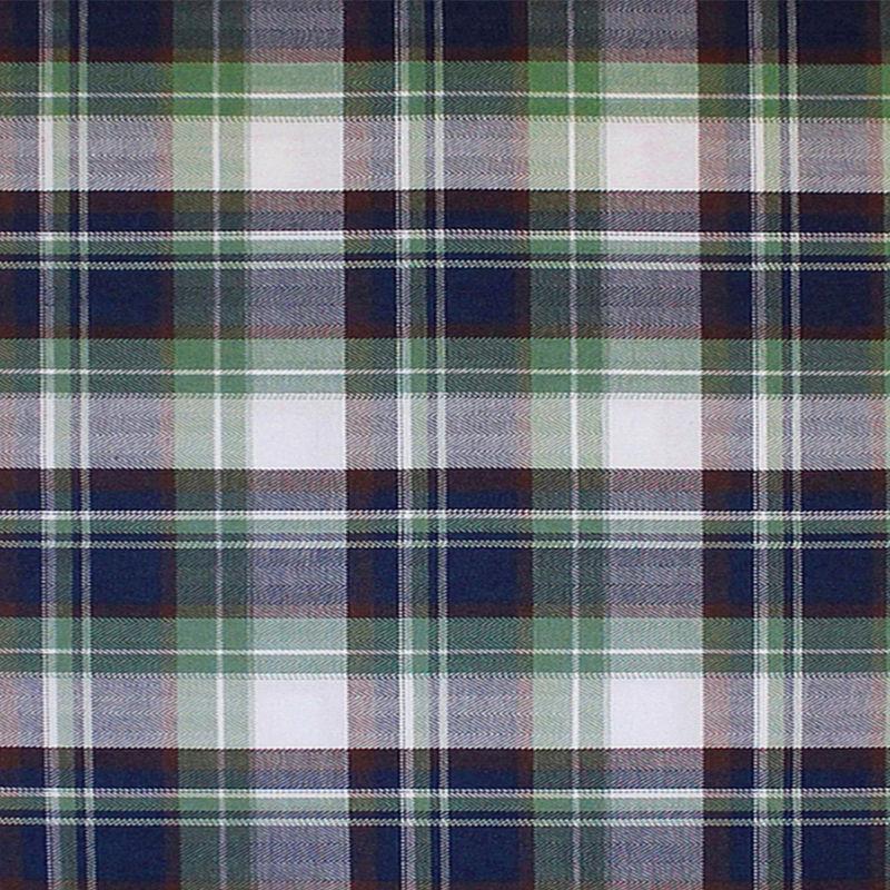 Green/Blue/Brown/White Plaid Cotton Flannel - Detail