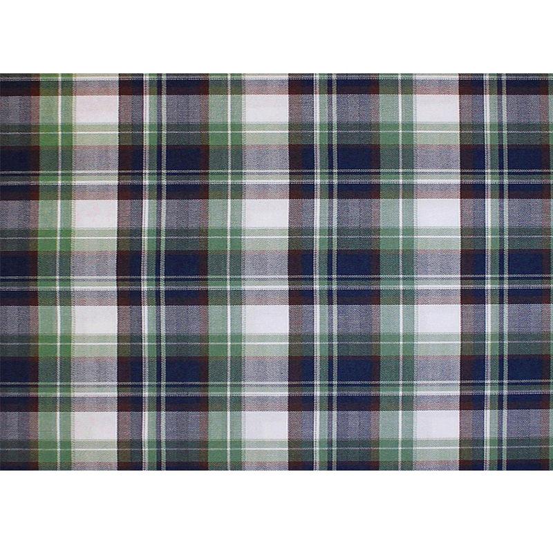 Green/Blue/Brown/White Plaid Cotton Flannel - Full