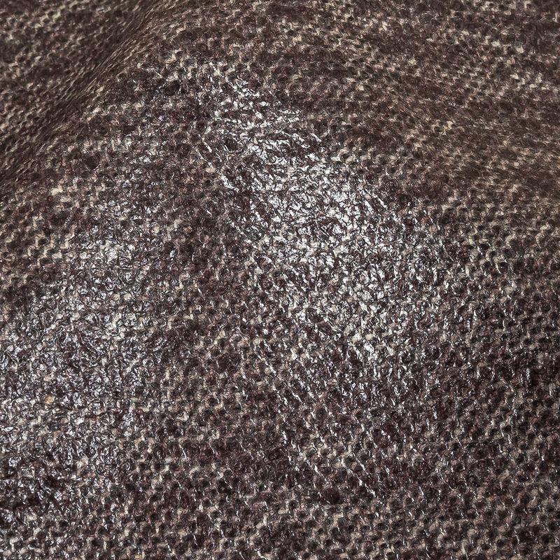 Heathered Fig Laminated Wool Tweed - Detail