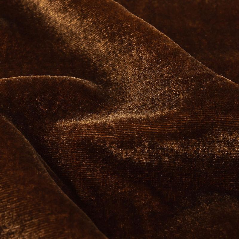 Rust Soft Rayon-Silk Velvet - Detail