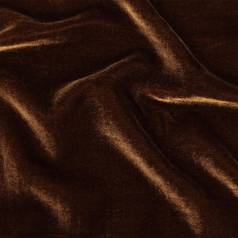 Rust Soft Rayon-Silk Velvet