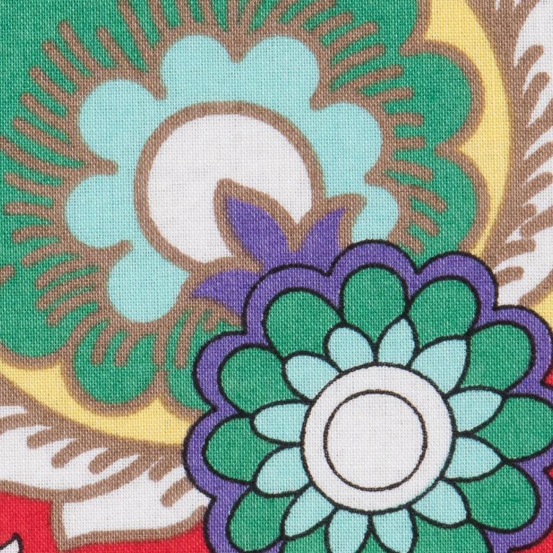 Italian Red/Pink Floral Printed Cotton Batiste - Detail