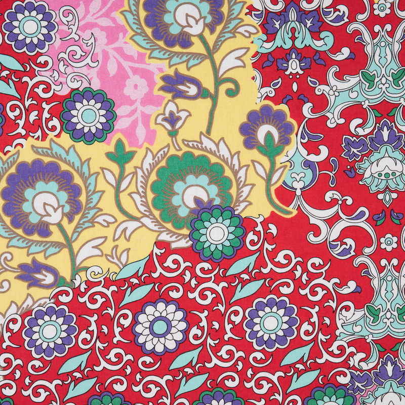 Italian Red/Pink Floral Printed Cotton Batiste