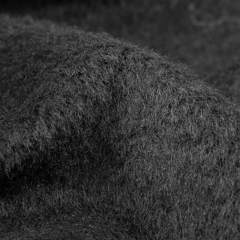 Stretch Limo Faux Fur Wool Coating - Detail