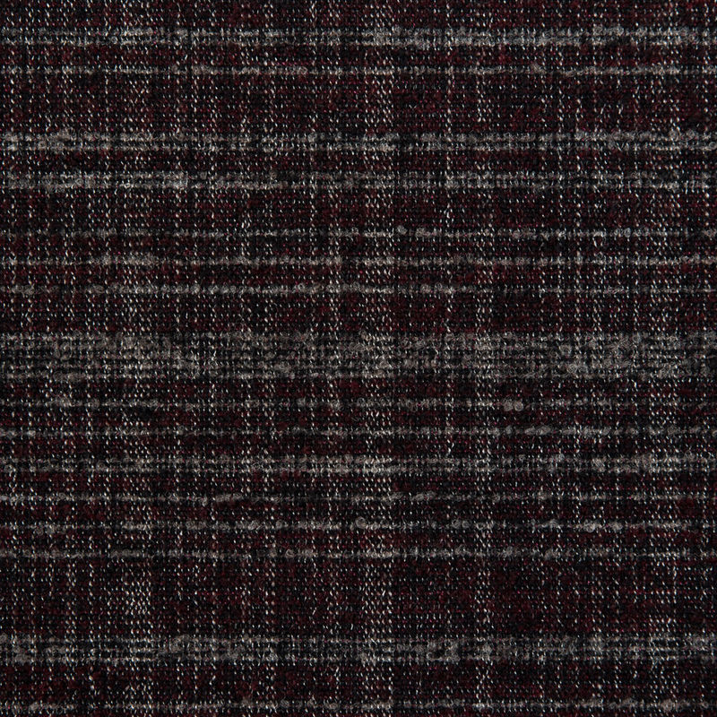 Tibetan Red/Gray/Black Boucled Heavy-Weight Wool Double Cloth