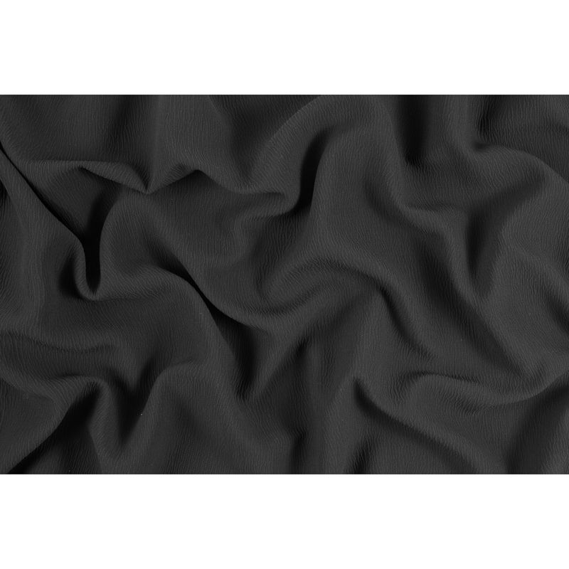 Black Textural Blended Silk Double Cloth - Full
