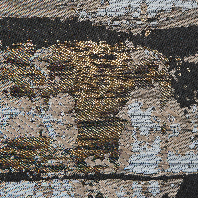 Beige and Gold Abstract Metallic Jacquard - Detail