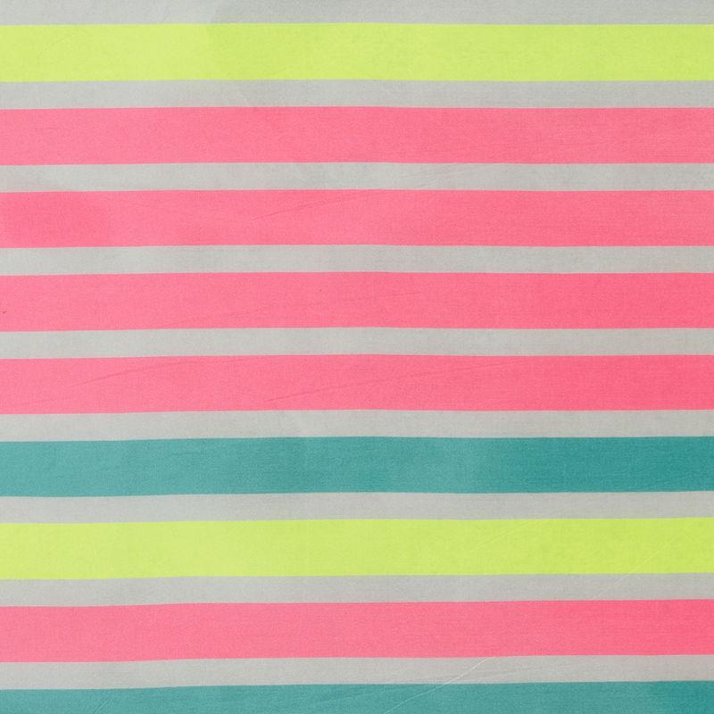 Fluorescent Pink Striped Taffeta - Folded