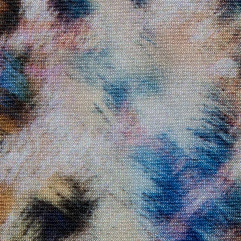 Multicolored Abstract Cheetah Printed Max-Dri Anti-Microbial Performance Tricot - Detail