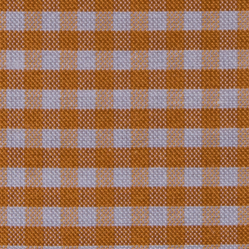 Tocca Apricot and White Gingham Silk Taffeta - Detail