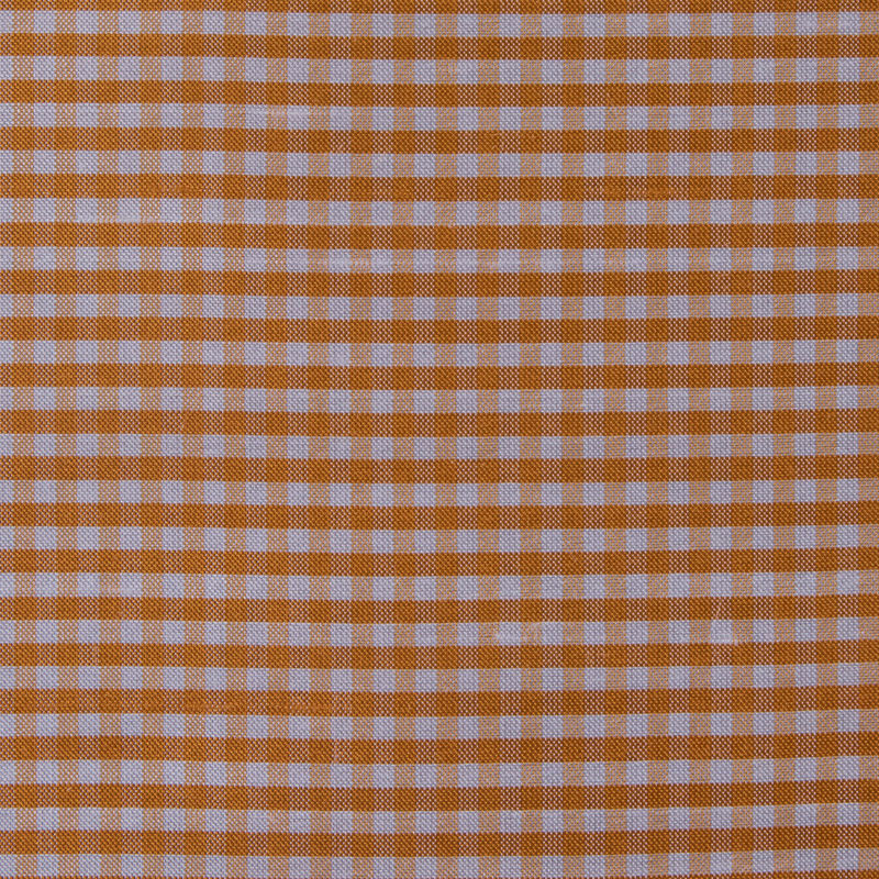 Tocca Apricot and White Gingham Silk Taffeta