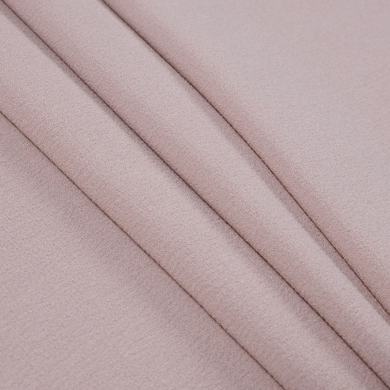 Italian Rose Dust Stretch Polyester Crepe - Folded