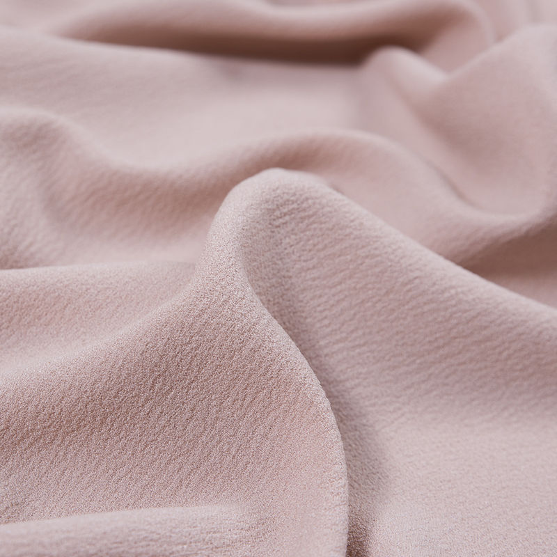 Italian Rose Dust Stretch Polyester Crepe - Detail