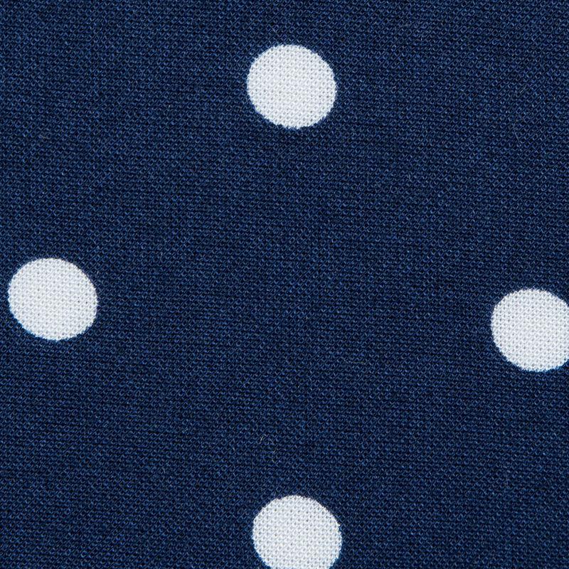 Navy Polka Dotted Rayon Challis - Detail